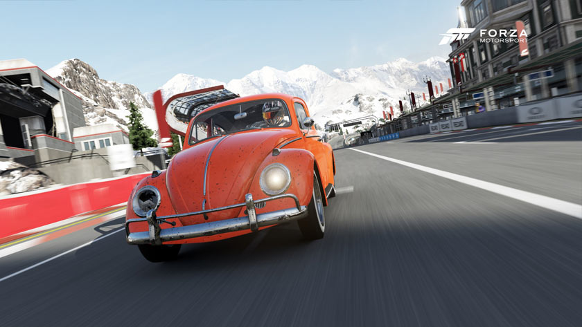Orange bug in the Alps on Forza 6
